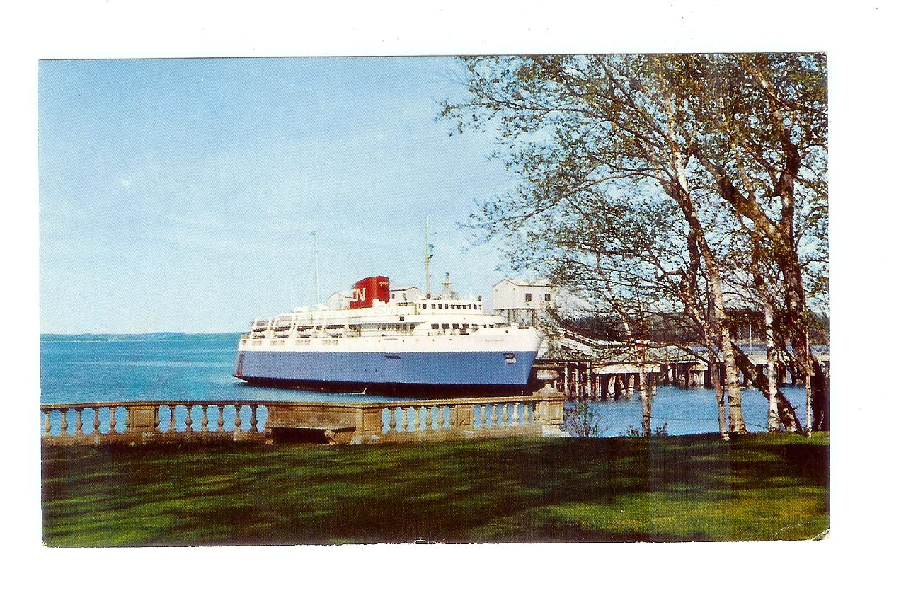 Chrome Postcard The M V Bluenose Ferry Bar Harbor