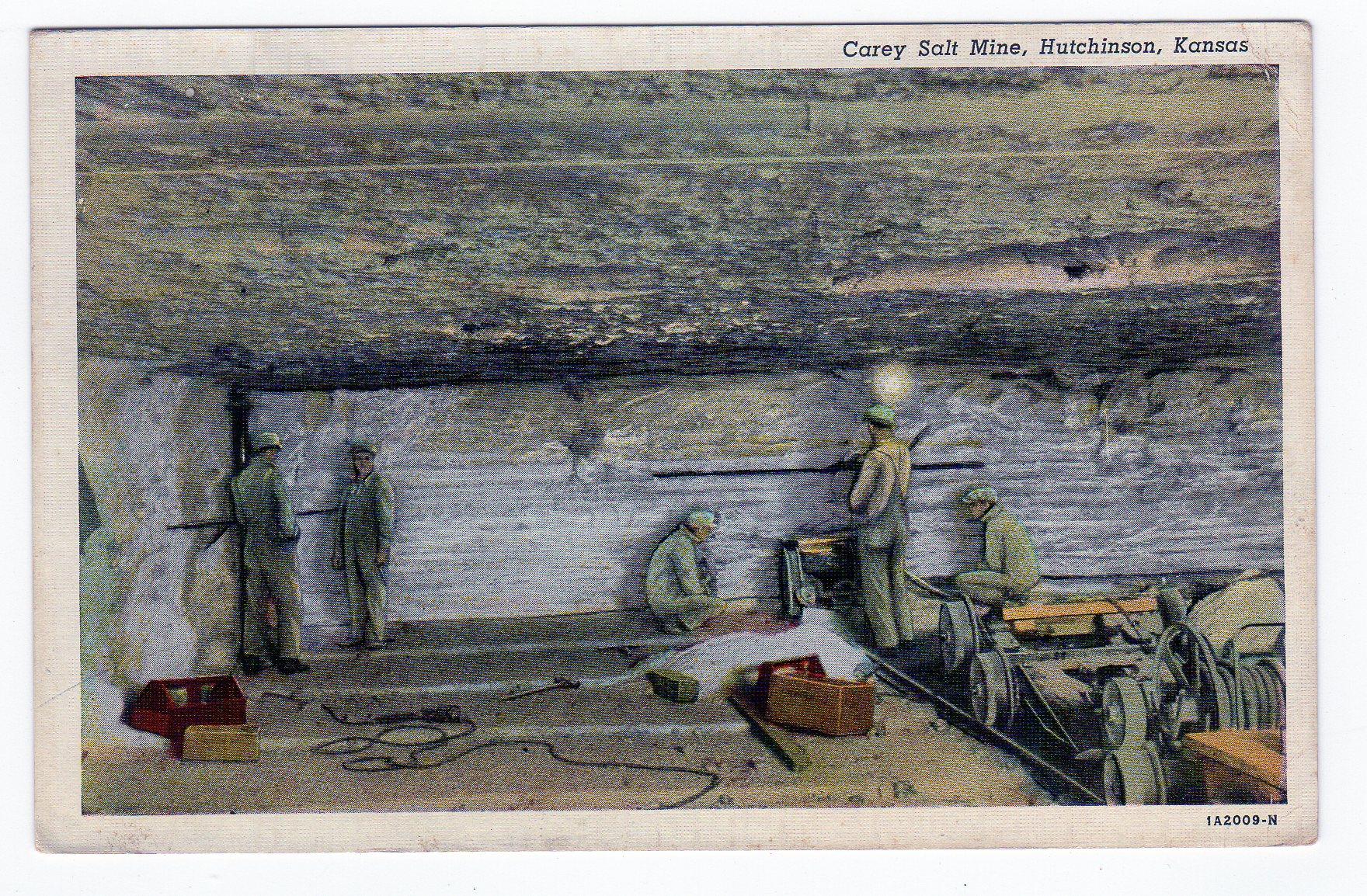 Lake Wales Dodge >> Linen postcard. Carey Salt Mine, Hutchinson, Kansas. | Jackie's Vintage Postcards