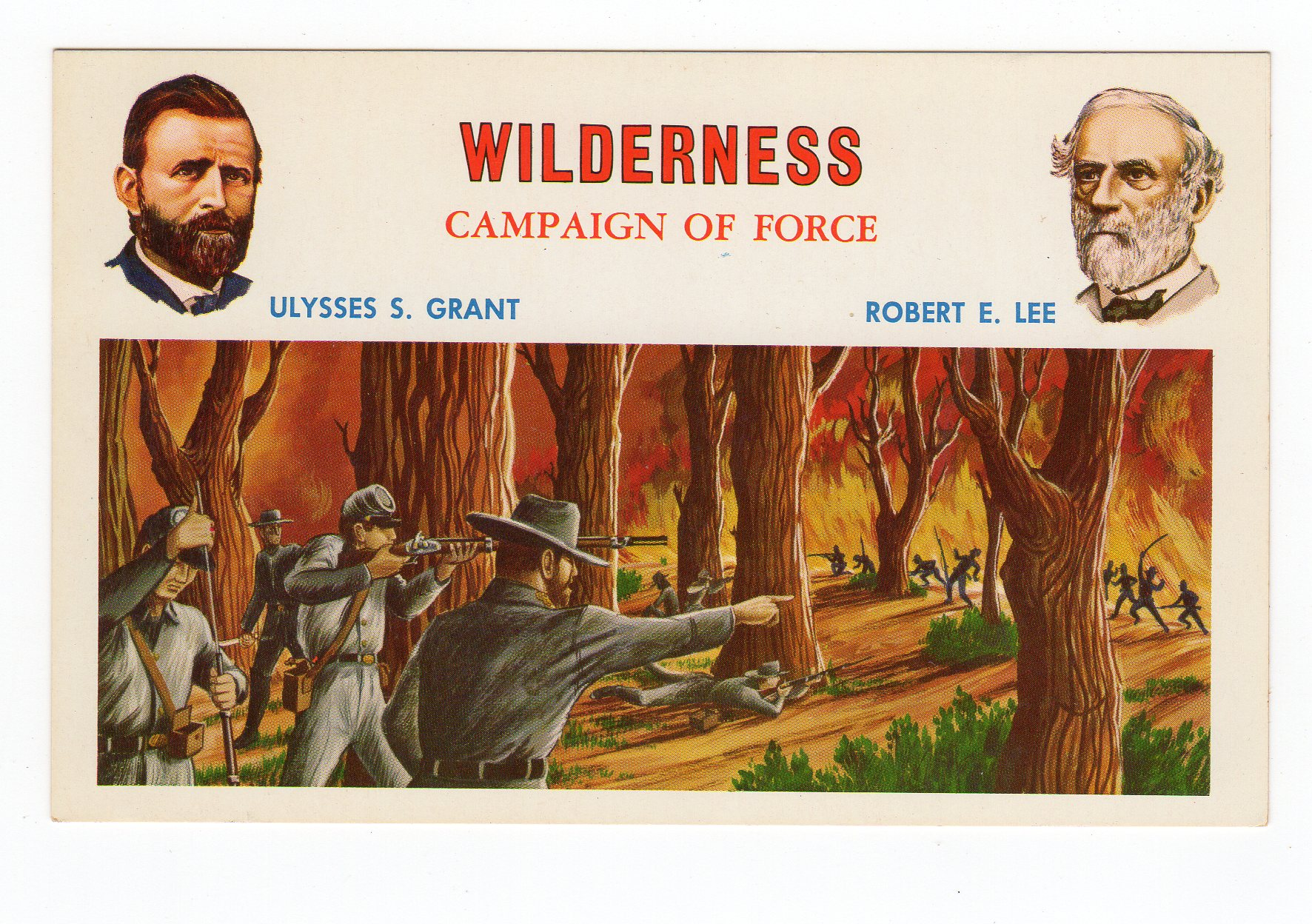 Chrome Postcard  Wilderness Campaign Of Force  Ulysses S