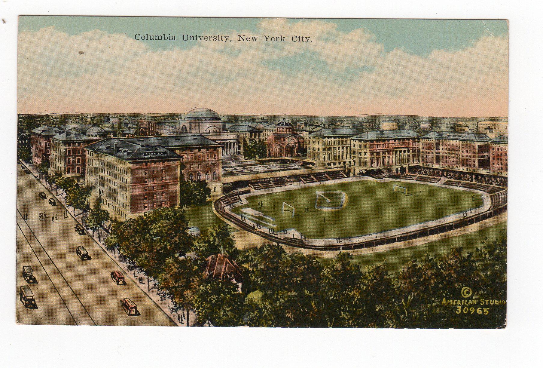 Madison Square Garden: Old Postcard. Columbia University, New York City. Stadium