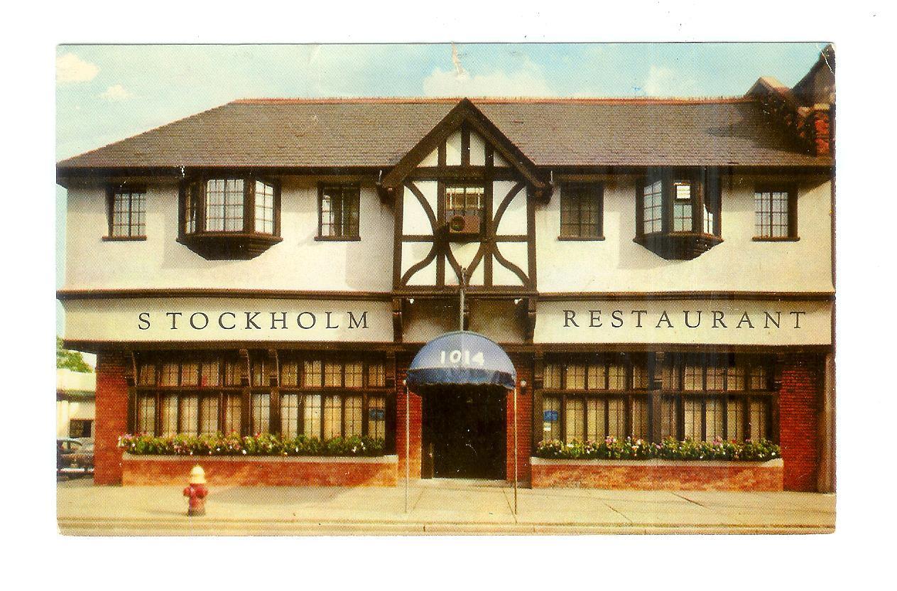 Chrome Postcard The Stockholm Restaurant 1014 E