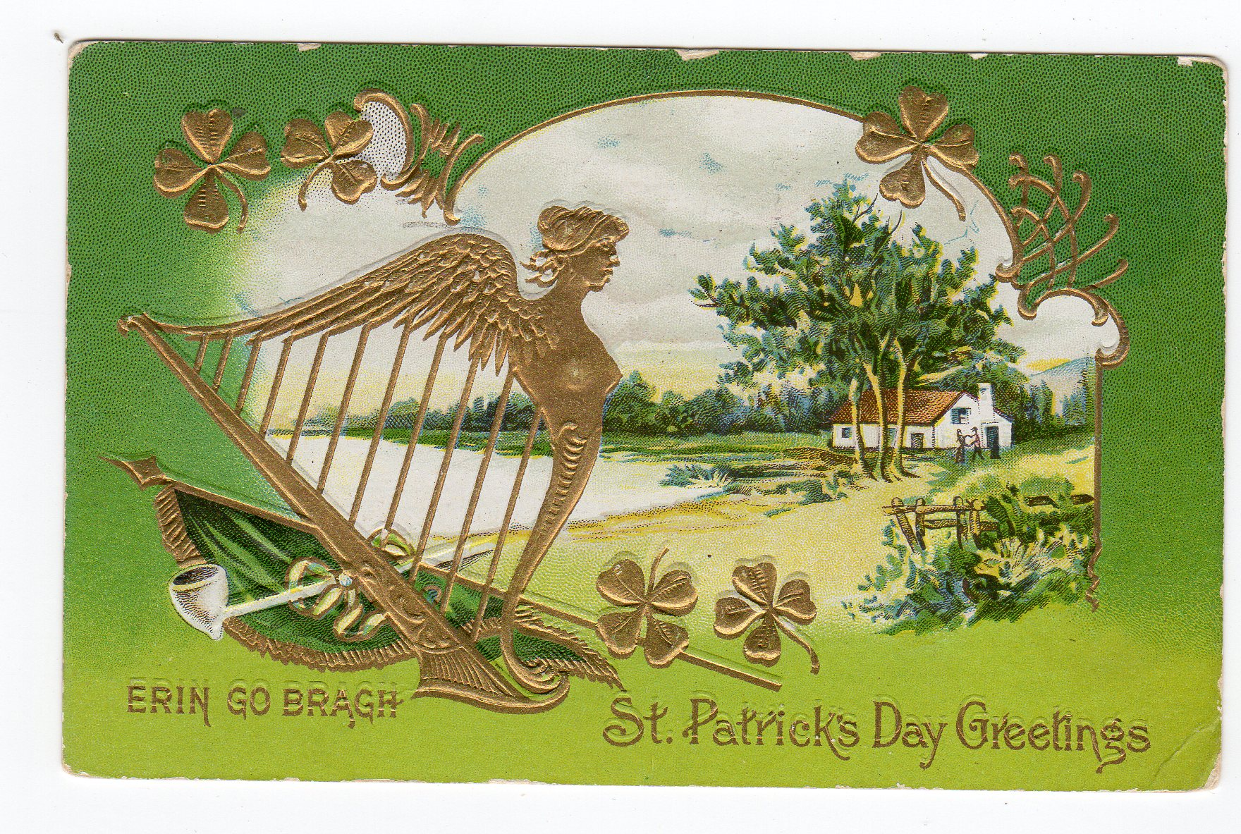 Product categories st pattys day jackies vintage postcards old postcard st pattys day erin go bragh st patricks day greetings harp shamrocks embossed 1911 m4hsunfo