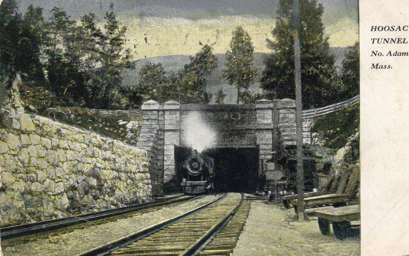 Old Postcard Hoosac Tunnel North Adams Massachusetts